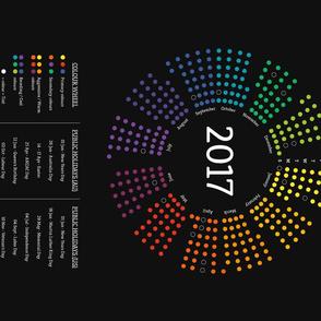 2017 Calendar Color Wheel