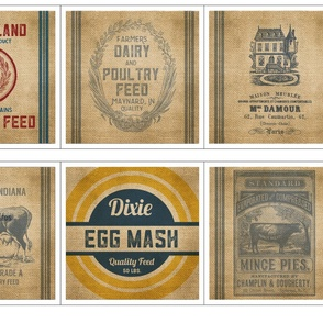 Feed Sack Pillow Designs