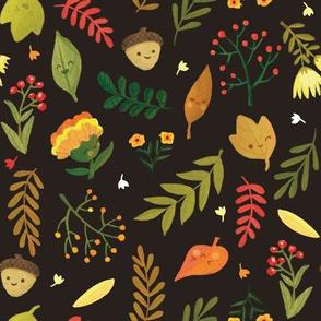 Cheery Autumn - Brown