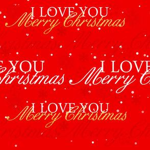 I Love You Merry Christmas