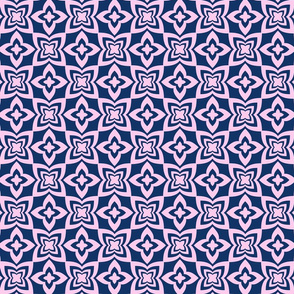 Floral Grid - Blue