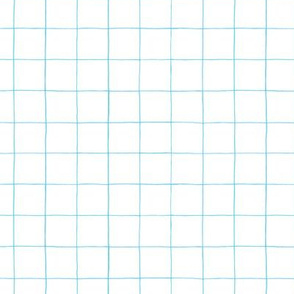 Light blue watercolor grid 1""