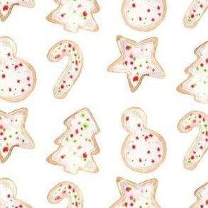 christmas cookies sprinkled
