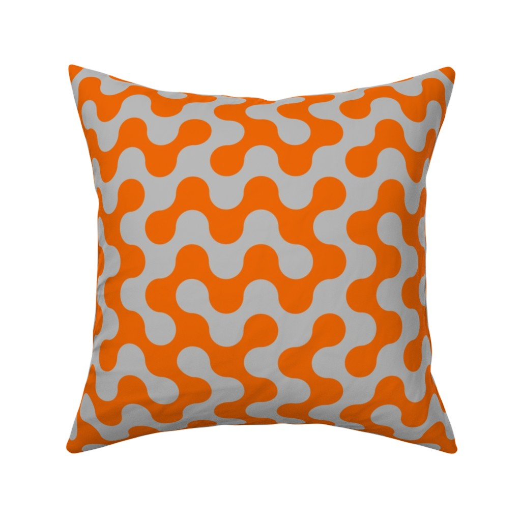 Catalan Throw Pillow featuring Squiggles by zuzana_licko