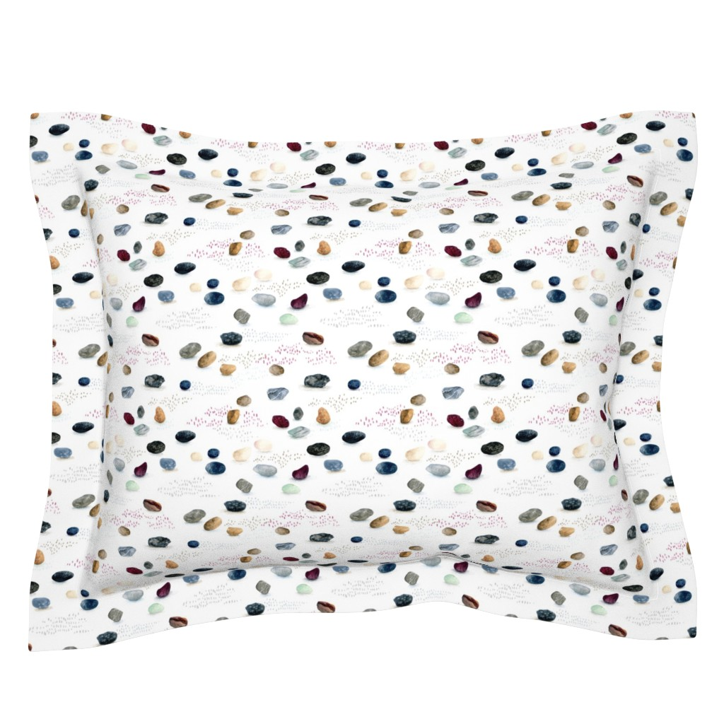 Sebright Pillow Sham featuring Pebble Fest by leoniehammerstein