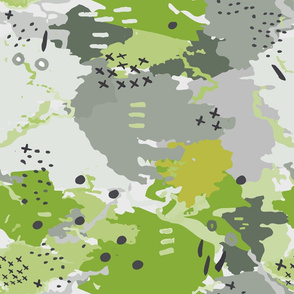 Jessee's Abstract Experiment #001 : Green & Olive