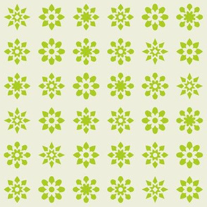 Floral Stars - Green