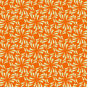 Geometric Floral - Orange