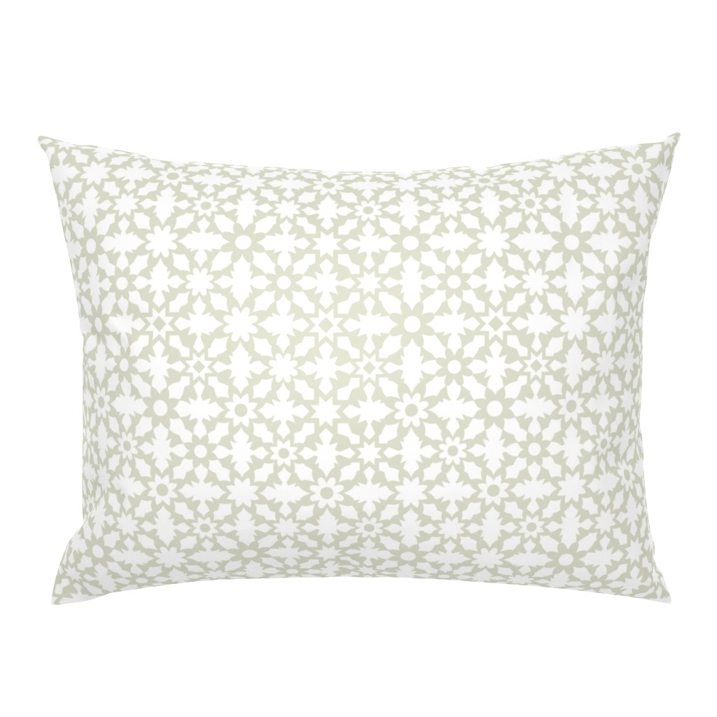 Campine Pillow Sham featuring Floral Field - White by zuzana_licko