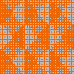 Shadow Dots - Orange Grey