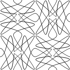 Tangly Loops - Black + White