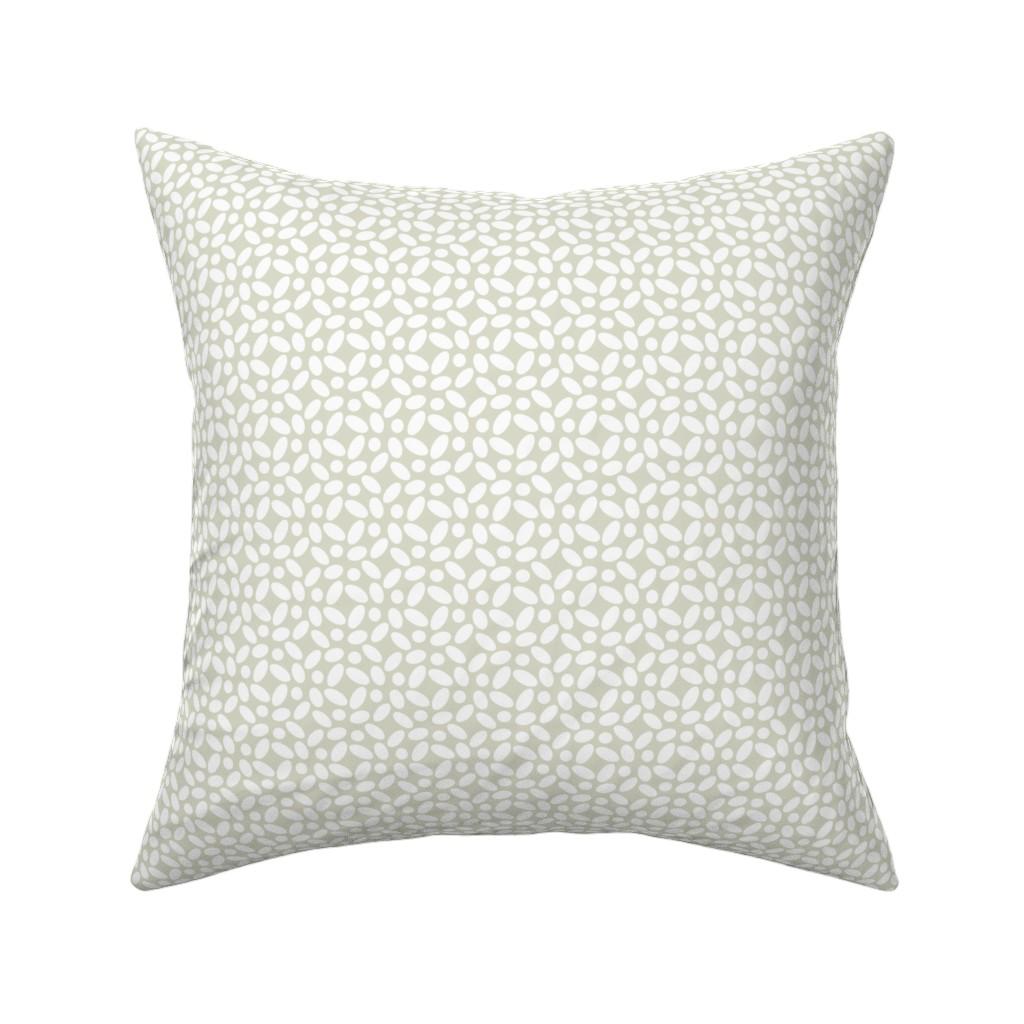 Catalan Throw Pillow featuring Cobblestones - White by zuzana_licko