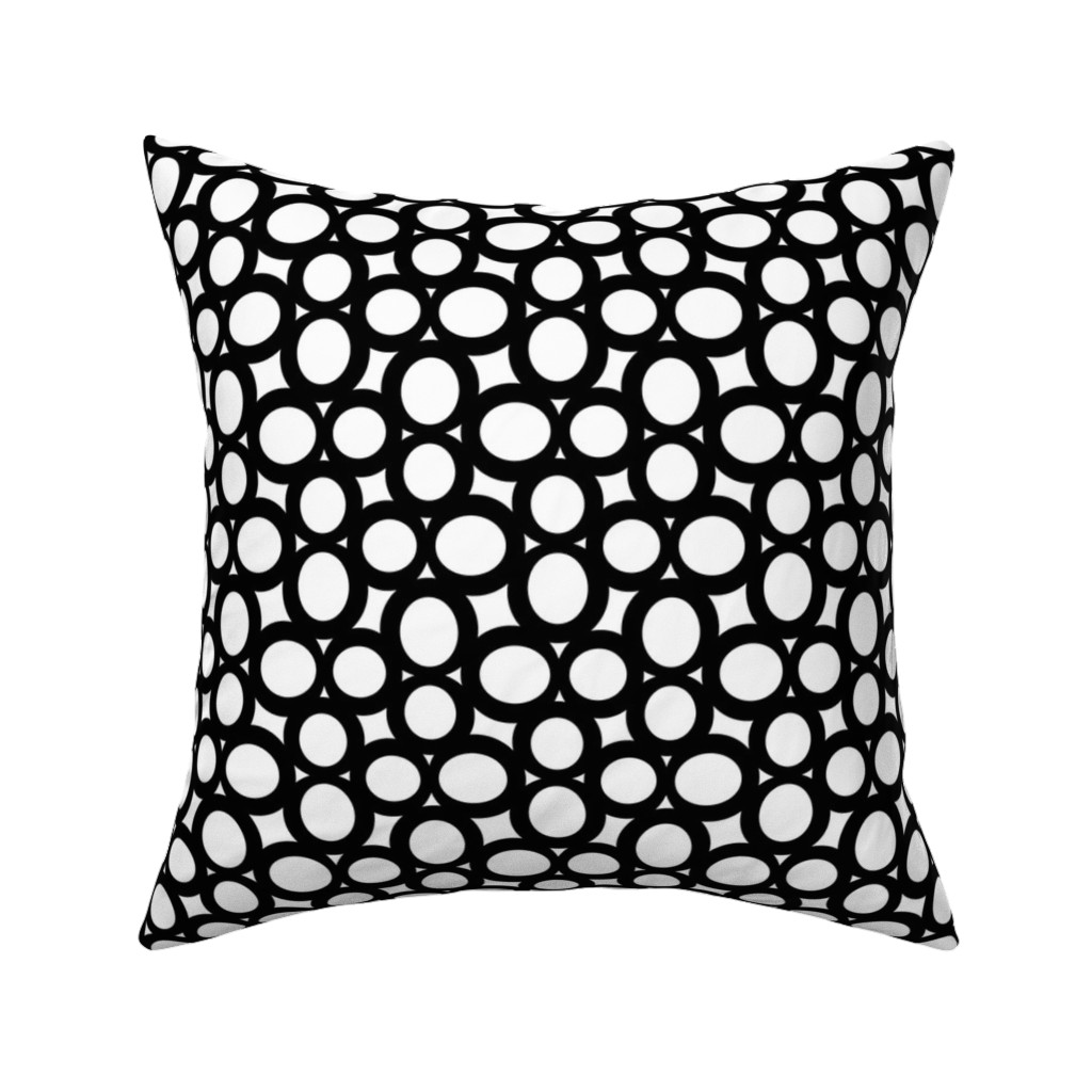 Catalan Throw Pillow featuring Letterform - 8 - B+W by zuzana_licko