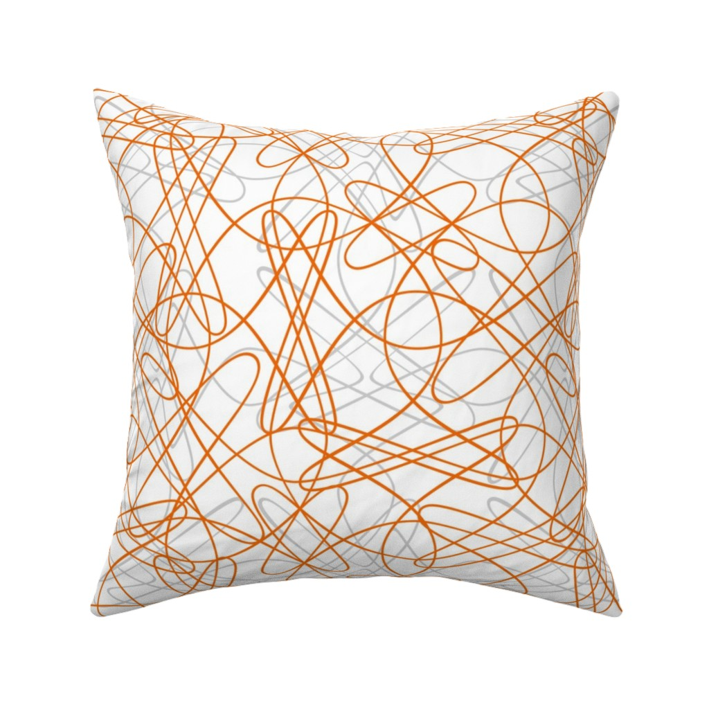 Catalan Throw Pillow featuring  Lines and Loops - White by zuzana_licko