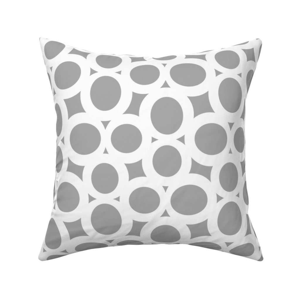 Catalan Throw Pillow featuring Letterform - 8 - grey by zuzana_licko