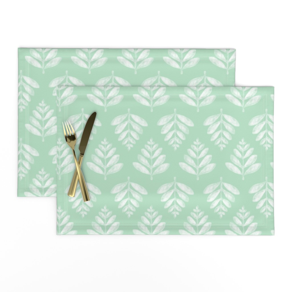 Lamona Cloth Placemats featuring Lau (Leaf) - Green by nick_neuman