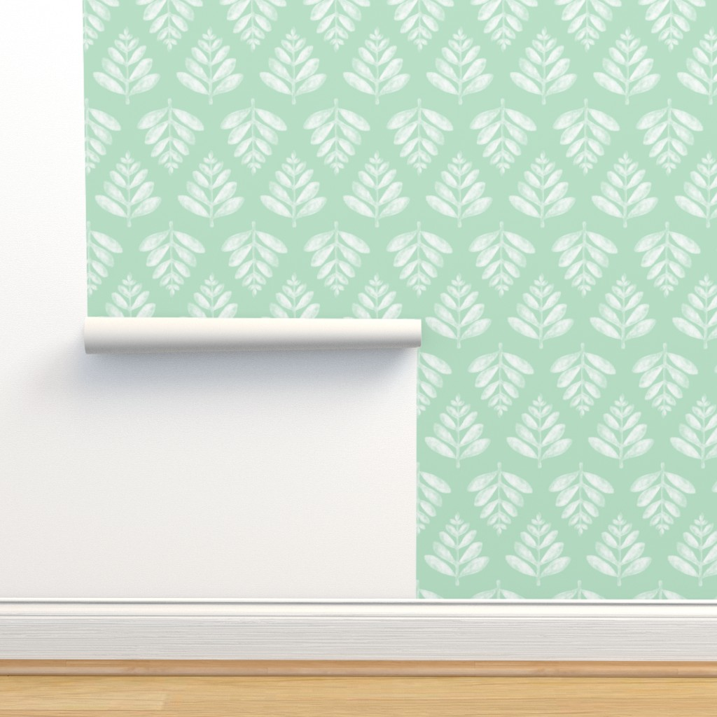 Isobar Durable Wallpaper featuring Lau (Leaf) - Green by nick_neuman