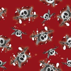 Skulls red