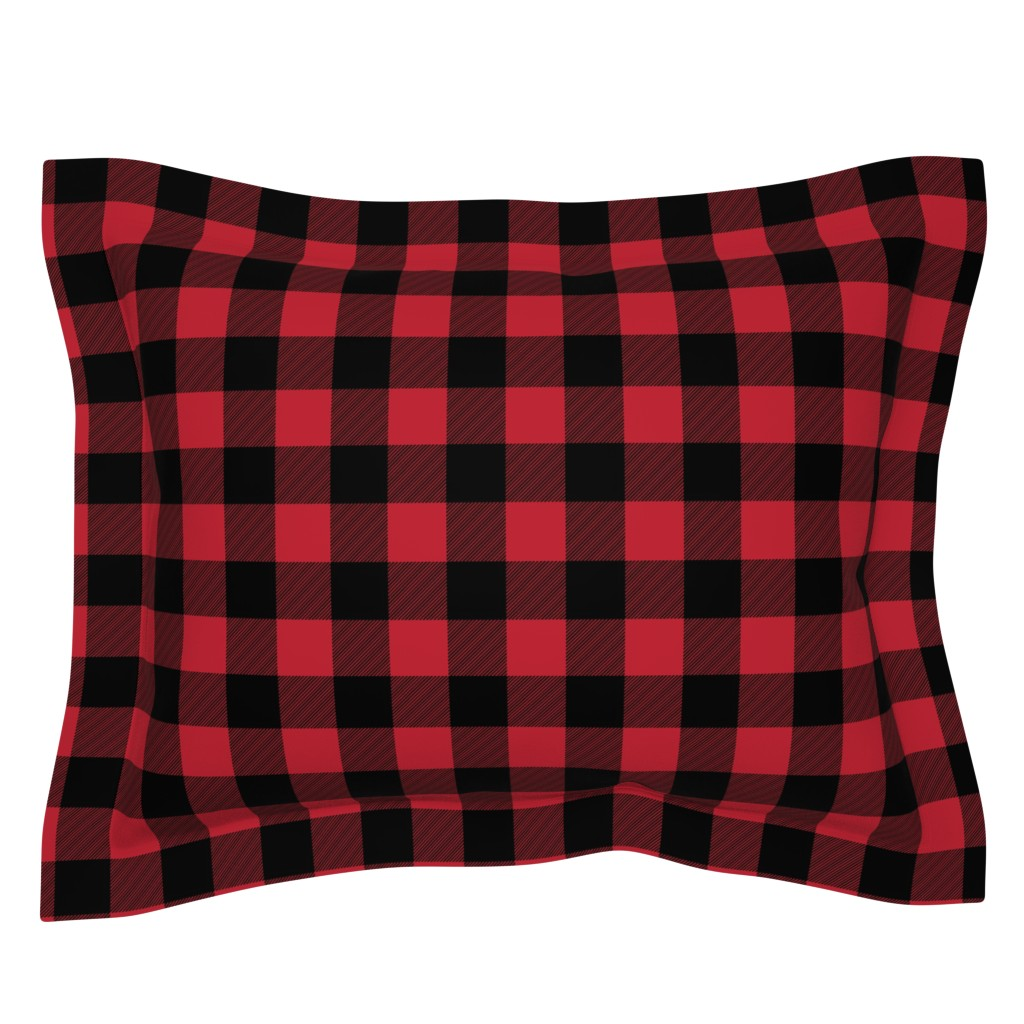 Sebright Pillow Sham featuring buffalo plaid || the happy camper collection by littlearrowdesign