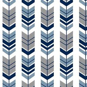 Feathered Arrow Slate Blue