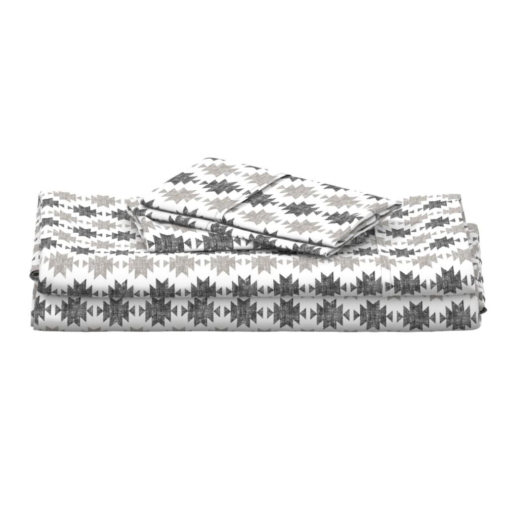 Langshan Full Bed Set featuring modern aztec    woven neutrals by littlearrowdesign
