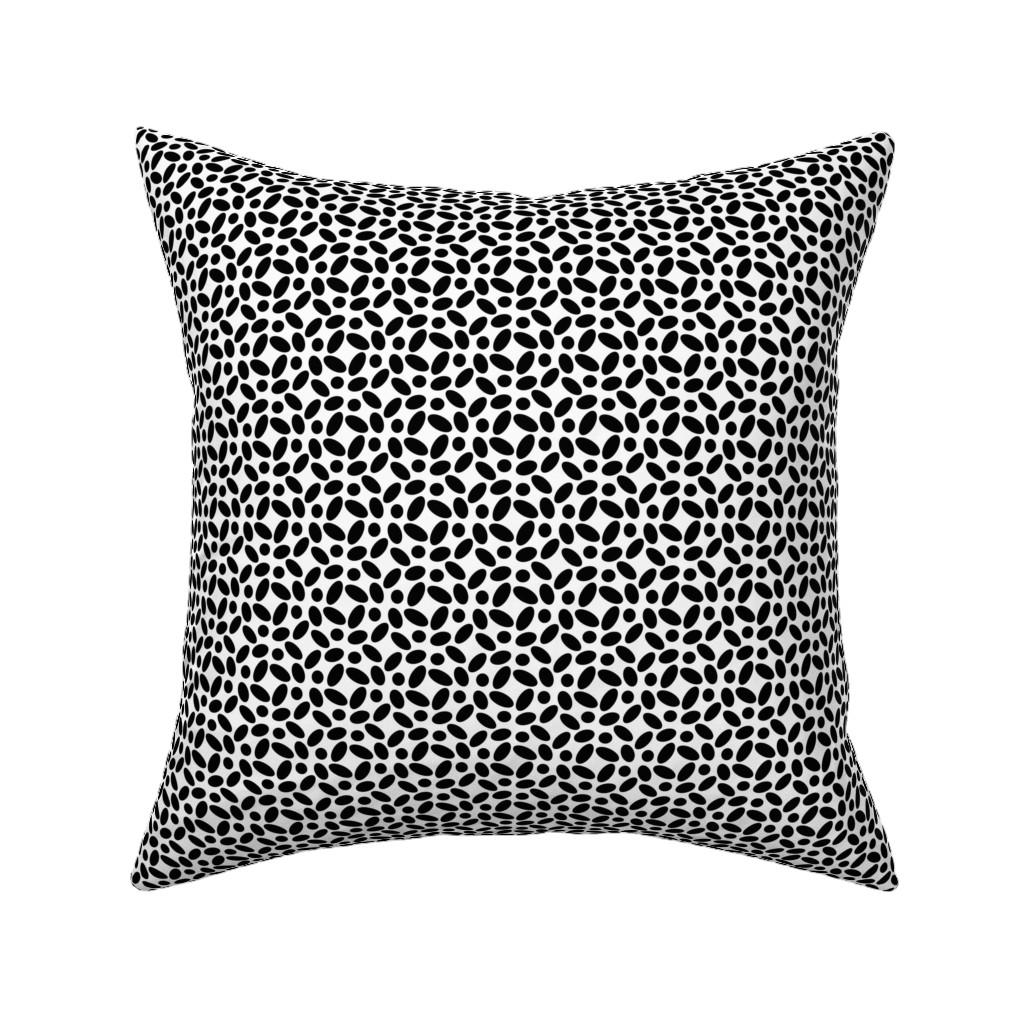 Catalan Throw Pillow featuring Cobblestones - B+W by zuzana_licko