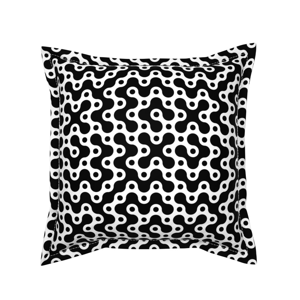 Serama Throw Pillow featuring Connecting Dots - W+B by zuzana_licko