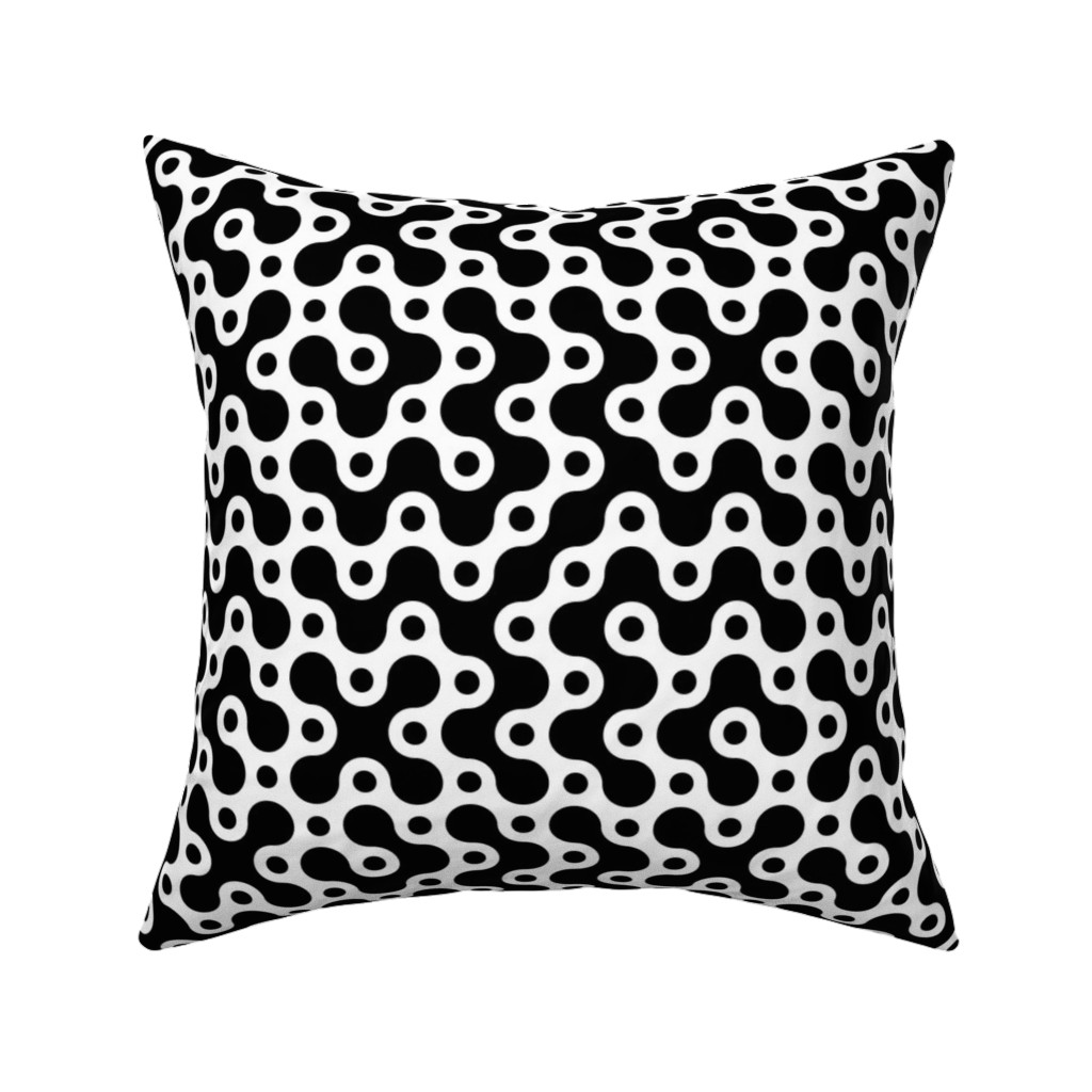 Catalan Throw Pillow featuring Connecting Dots - W+B by zuzana_licko