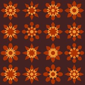 Floral Stars - Orange