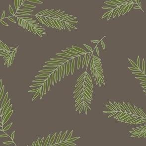 Pine Sprig - Ivy, Brown