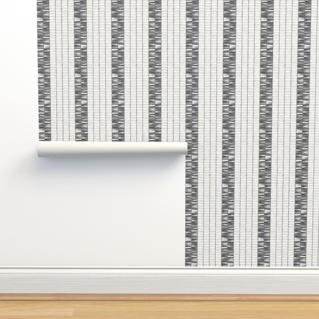 Isobar Durable Wallpaper featuring Wampum Stripe Gray Pearl 300 by kadyson