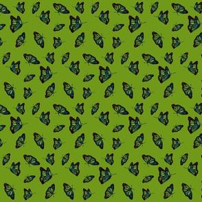 Nouveau Butterflies lime small