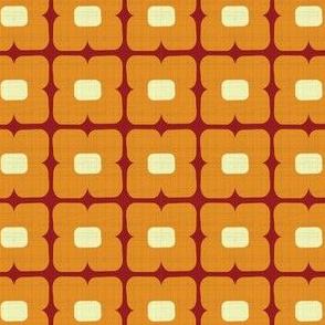 Square floral orange