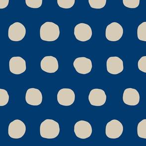 Jumbo Dots in navy/khaki