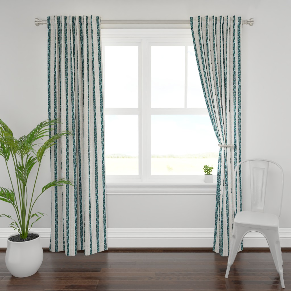 Plymouth Curtain Panel featuring Wampum Stripe Abalone 300 by kadyson