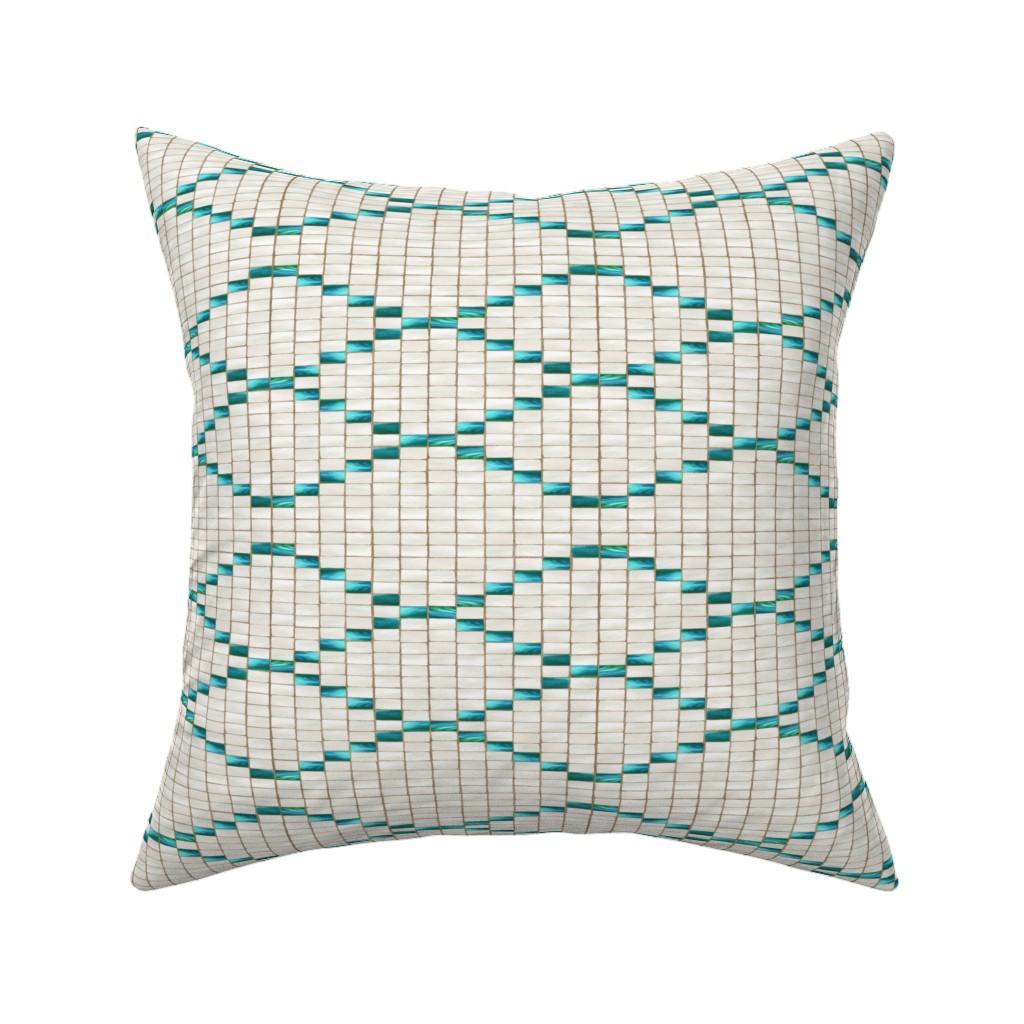 Catalan Throw Pillow featuring Wampum Diamonds Abalone 400 by kadyson