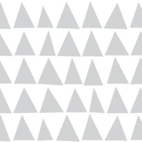 Ash Grey Triangles on White by Minikuosi