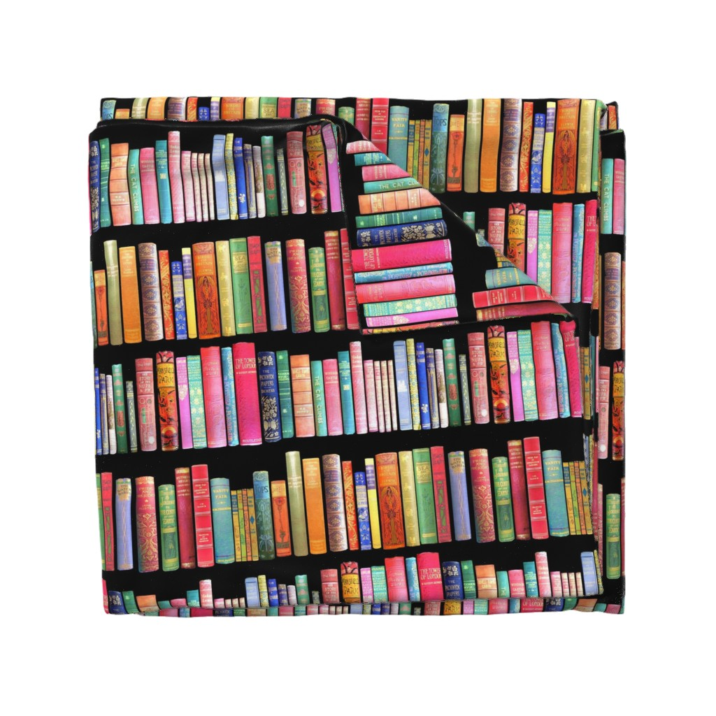 Wyandotte Duvet Cover featuring  Antique Books // Vintage Bookshelf/ victorian by magentarosedesigns