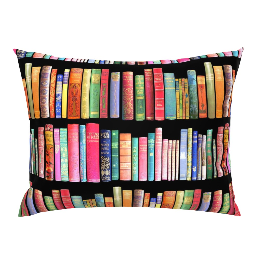 Campine Pillow Sham featuring  Antique Books // Vintage Bookshelf/ victorian by magentarosedesigns