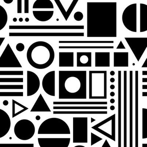Shapes, shapes and more shapes - Black and White