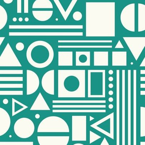 Shapes, shapes and more shapes - Teal
