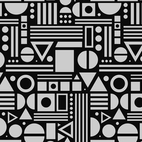 Shapes, shapes and more shapes - Black and Grey