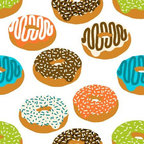 donuts doughnuts print boys gender neutral donut food print novelty fabric