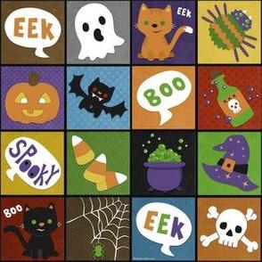 Halloween Squares on Black