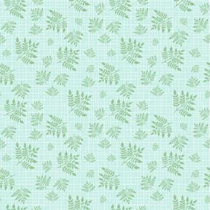 leaves on sketchy grid