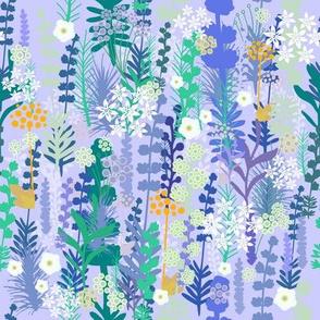 Lavander, wildflowers