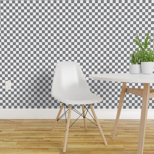 Wallpaper 16 12j Retro Vintage 50s Check Gray Grey White Squares Geometric Miss Chiff Designs
