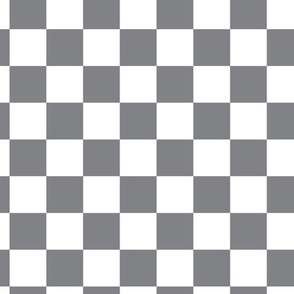 16-12J Retro Vintage 50s Check || Gray Grey White Squares Geometric _Miss Chiff Designs