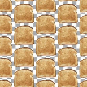 16-12G Retro Vintage Toast || 50s Kitchen Breakfast food Gray grey white check checkerboard Bread _ Miss Chiff Designs