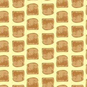 16-12E Retro Toast on Pale Yellow_Miss Chiff Designs